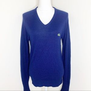 Lacoste Izod Vintage Navy Sweater Size Medium
